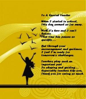 touching poem for teacher on Teachers' Day.
