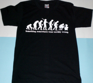 Black Color Funny Tee Item Code-203 Size M