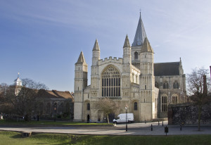 Description Rochester Cathedral from west.jpg