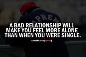 alone #bad relationship #single