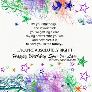 Free Birthday Cards For Son-In-Law – Happy Birthday Son-In-Law