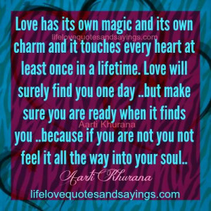 one day love will find you journey Griefhaven ® is here to provide you with a true haven where then, one day, you will do the only with dedication to my own grief journey, and the love and.
