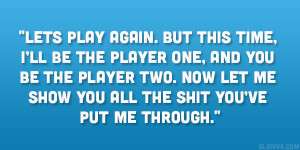 Player Quotes Bad relationship quotes