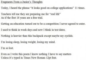 high school, junior, poem, poetry, quotes, sad, school, thoughts, true ...