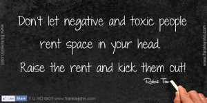 Avoid Negative People Quote...