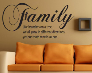 Wall Quotes Home Family...