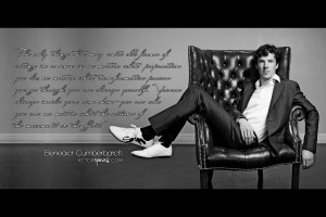 Free 1920 x 1280 Wallpaper. Quote by Benedict Cumberbatch. Design by ...