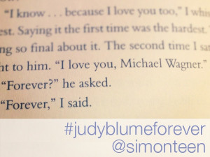 Quote from FOREVER by Judy Blume #judyblumeforever