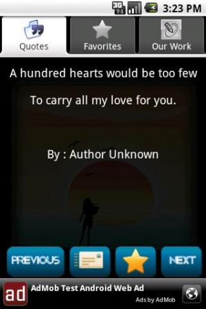 Romantic Quotes screenshot 2