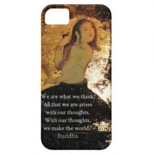 Uplifting Buddha Quote iPhone 5 Case