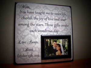 Thank You For Raising The Man Of My Dreams Picture Frame Custom mother ...