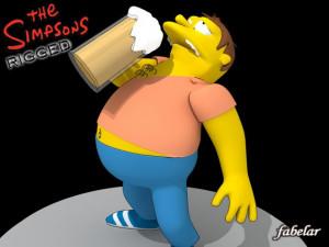 Barney Gumble rigged 3D model