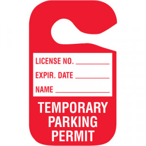 Home > Tags > Parking Tags > Temporary In Stock Cardstock Hanging ...