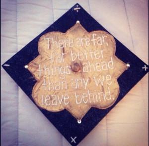 Phi Mu Graduation Cap! LOVE this quote!