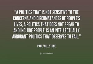 Politics That Not Sensitive