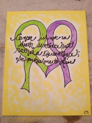 8x10 canvas painting featuring inspirational Cancer quote on Etsy, $14 ...