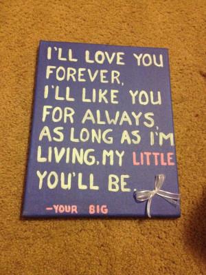Big/Little craftBig Little Gifts Diy, Big Sister Quotes Greek, Big ...