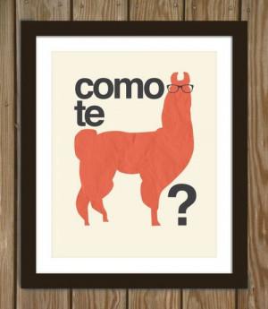 como te llama, espanol, funny, joke, lama, lol, spanish