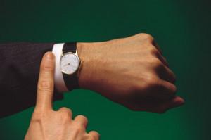 wristwatch on man's hand