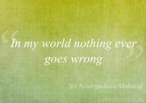 In my world nothing ever goes wrong….