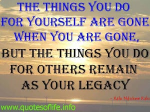 For Others Remain As Your Legacy Kalu Ndukwe Leadership Quote