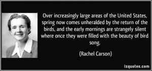 Over increasingly large areas of the United States, spring now comes ...