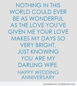 Short but Cute Anniversary Quotes for Wife