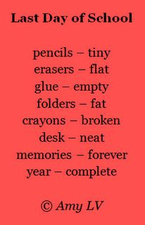 This poem about the last day of school is from The Poem Farm, Amy ...