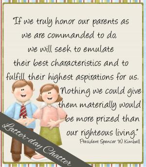 September Sharing Time WK 3: Honoring Parents