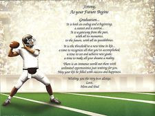 Graduation Personalized Poem Print Gift for a High School Football ...