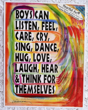 BOYS Can 8x11 POSTER Motivational Original Words of Confidence Freedom ...