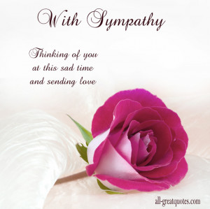 With Sympathy – Thinking of you at this sad time, and sending love ...