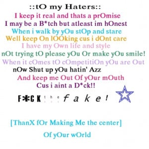 hate haters attitude quote quotes