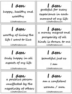 am…statements! Words to live by!
