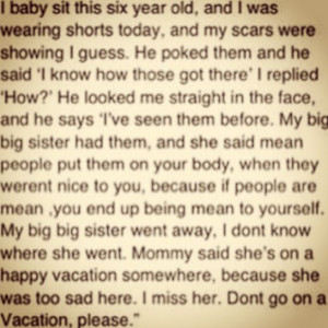 Depression Cutting Self harm Suicide ( this made me teary eyed when I ...