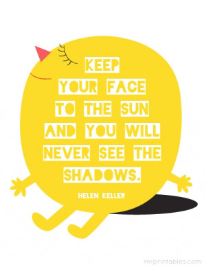 Helen Keller quote - printable poster
