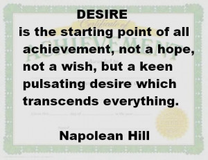 desire is a starting point