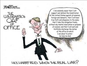 Harry Reid is a horrid little man