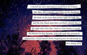 fade away, heartbreak, him, imagination, losing, love, quote