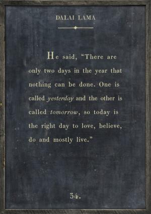 Dalai Lama Quote Vintage Framed Art Print