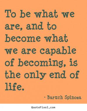 Baruch Spinoza Motivational Diy Quote Wall Art
