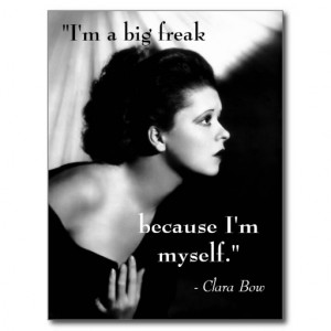 Clara Bow 1920s Film Star Inspiring Quote Postcard