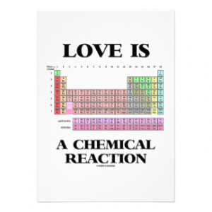 Love Is A Chemical Reaction (Periodic Table) Custom Announcement