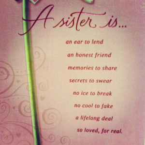 Quotes Sisters Heart Quote