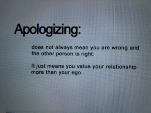 ... ; Does Not Always Mean You Are Wrong And The Other Person Is Right