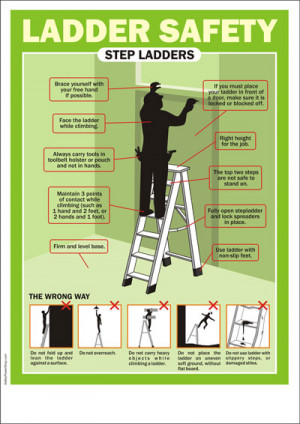 Ladder safety quotes quotesgram for Ladder safety tips