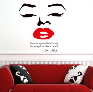 Removable Vinyl Quote Wall Decal Marilyn Wall Art Quote Wall Sticker ...