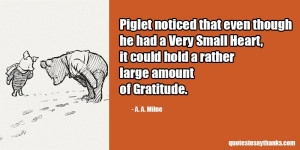 Giving Thanks Quote - Large Amount of Gratitude