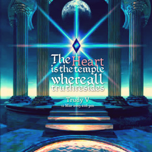 Quotes Picture: the heart is the temple where all truth resides