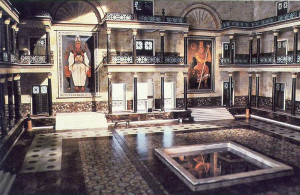 reconstruction of the main hall of the Museum of Alexandria used in ...